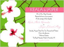 Wedding Invitation - modern hibiscus