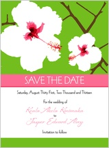 Save the Date Card - modern hibiscus