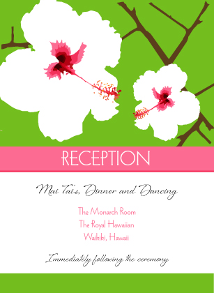 Reception Card - Modern Hibiscus