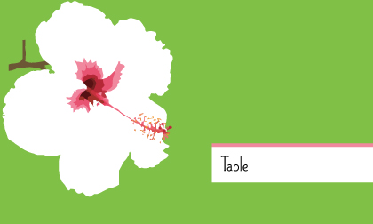 Place Card - Modern Hibiscus