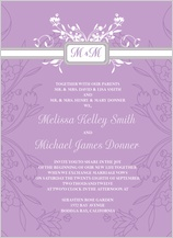 Wedding Invitation - monogram scroll