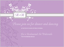 Reception Card - monogram scroll