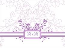 Wedding Thank You Card - monogram scroll