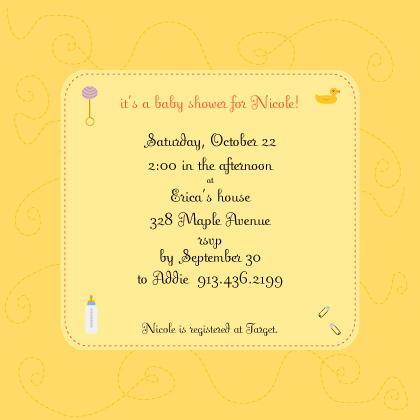 Baby Shower Invitation - homemade