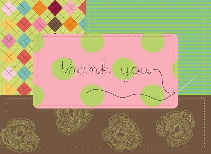 Baby Thank You Card - homemade