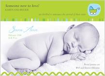 Birth Announcement with photo - plush hug