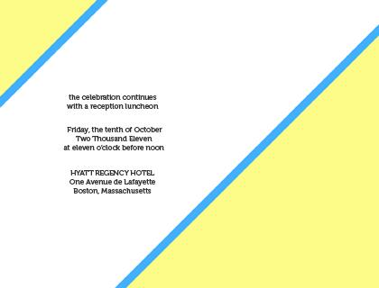 Reception Card - ART DECO