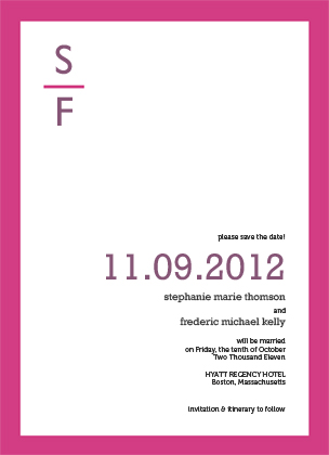Save the Date Card - MODERN FRAME
