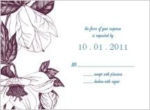 Response Card - vintage flowers