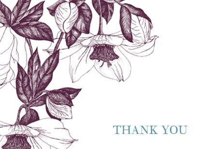 Wedding Thank You Card - VINTAGE FLOWERS