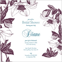 Wedding Shower Invitation - vintage flowers