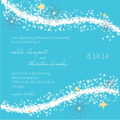 Wedding Invitation - Cosmic Starburst