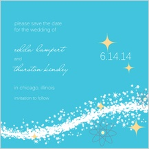 Save the Date Card - cosmic starburst