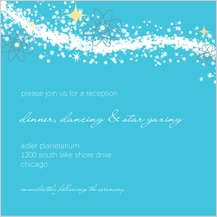 Reception Card - cosmic starburst