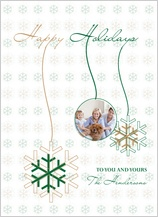 Christmas Cards - dancing snowflakes