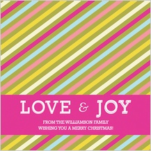 Christmas Cards - yummy stripes holiday