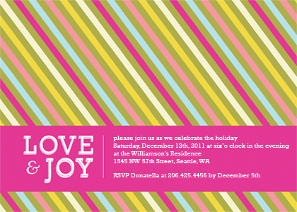 New Year's Cards - Yummy Stripes Holiday
