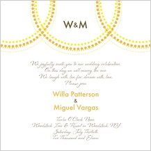 Wedding Invitation - golden rings
