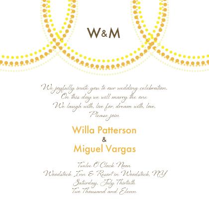 Wedding Invitation - Golden Rings