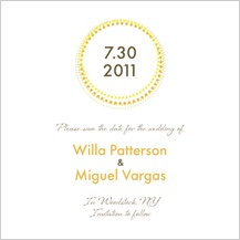 Save the Date Card - golden rings