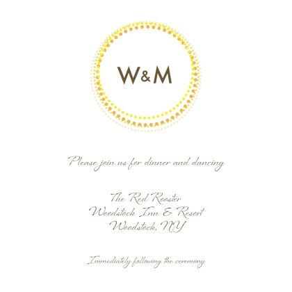Reception Card - Golden Rings