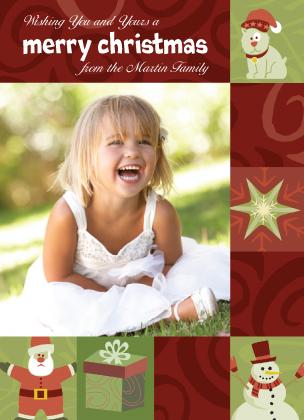 Christmas Cards - Holiday Swirls