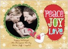 Christmas Cards - peace, love, joy