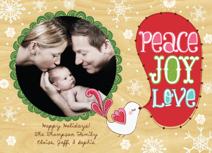 Christmas Cards - Peace, Love, Joy