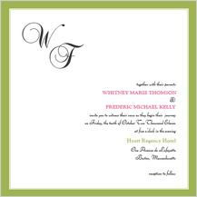 Wedding Invitation - simple frame