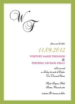 Save the Date Card - SIMPLE FRAME
