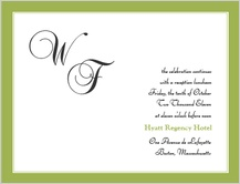 Reception Card - simple frame