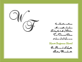 Reception Card