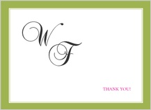 Wedding Thank You Card - simple frame