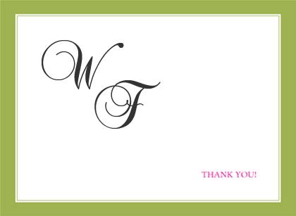 Wedding Thank You Card - SIMPLE FRAME