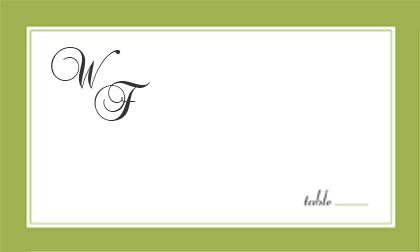 Place Card - SIMPLE FRAME