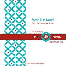 Save the Date Card - decorative zircon