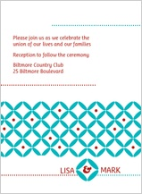 Reception Card - decorative zircon