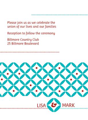 Reception Card - Decorative Zircon