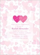 Wedding Shower Invitation - heart shower