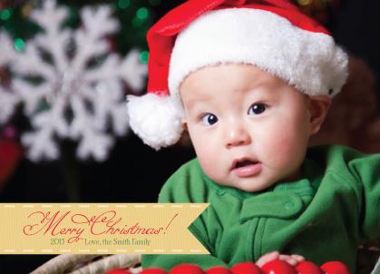 Christmas Cards - Christmas Ribbon