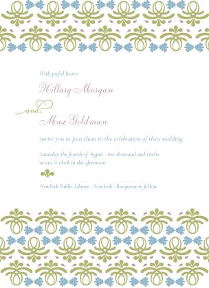 Wedding Invitation - Vintage Love