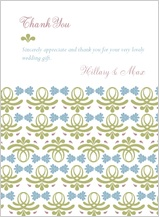 Wedding Thank You Card - vintage love