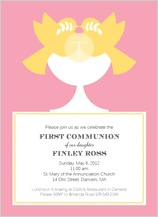First Communion Invitation - modern communion