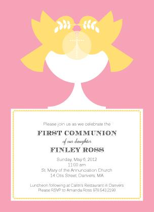 First Communion Invitation - Modern Communion