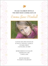 First Communion Invitation - heaven sent