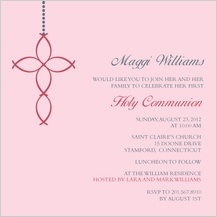 First Communion Invitation - ichthus