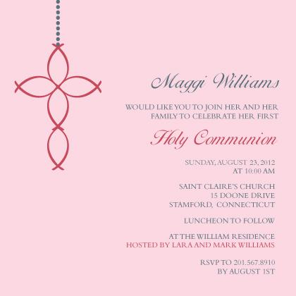 First Communion Invitation - Ichthus
