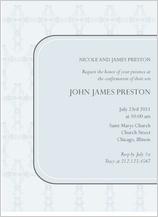 Confirmation Invitation - decorative cross
