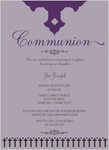 First Communion Invitation - communion crosses