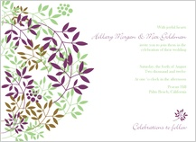 Wedding Invitation - leafy cluster